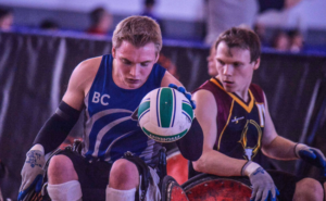 Joel Ewert in action at Vancouver Invitational